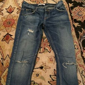 Zara Distressed Denim Jeans